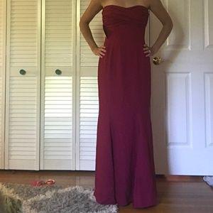 Dresses & Skirts - Sleeveless draped maroon bridesmaid dress
